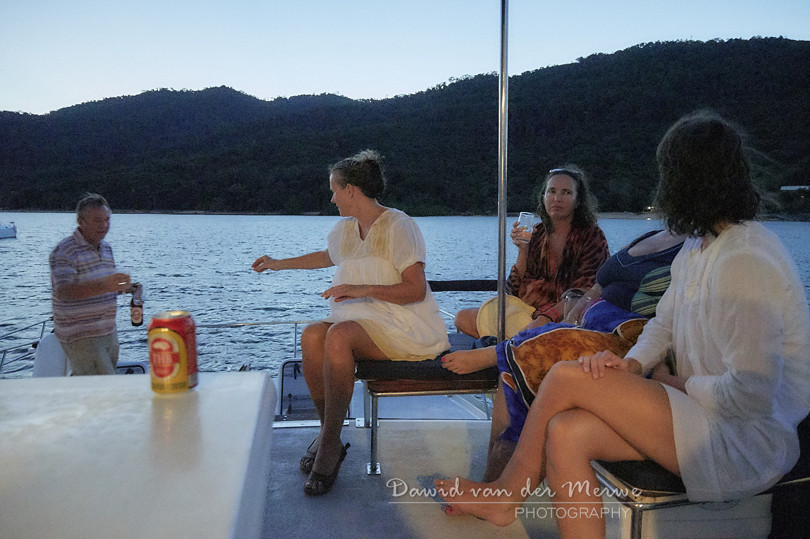 Family and friends enjoying a boat charter trip in Madagascar