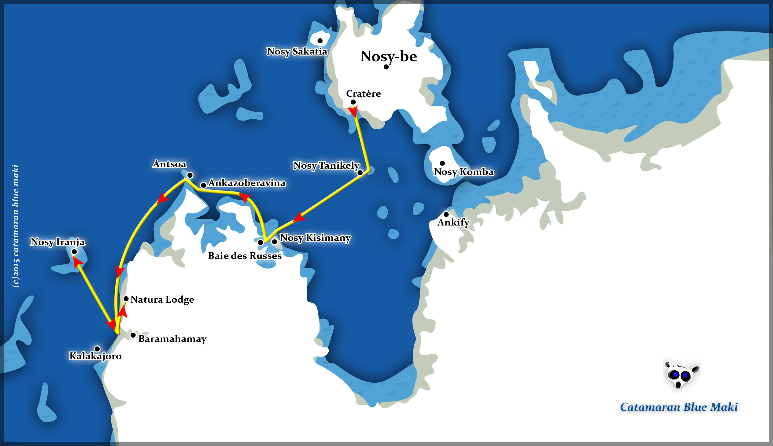 Routes of the Maki Cat