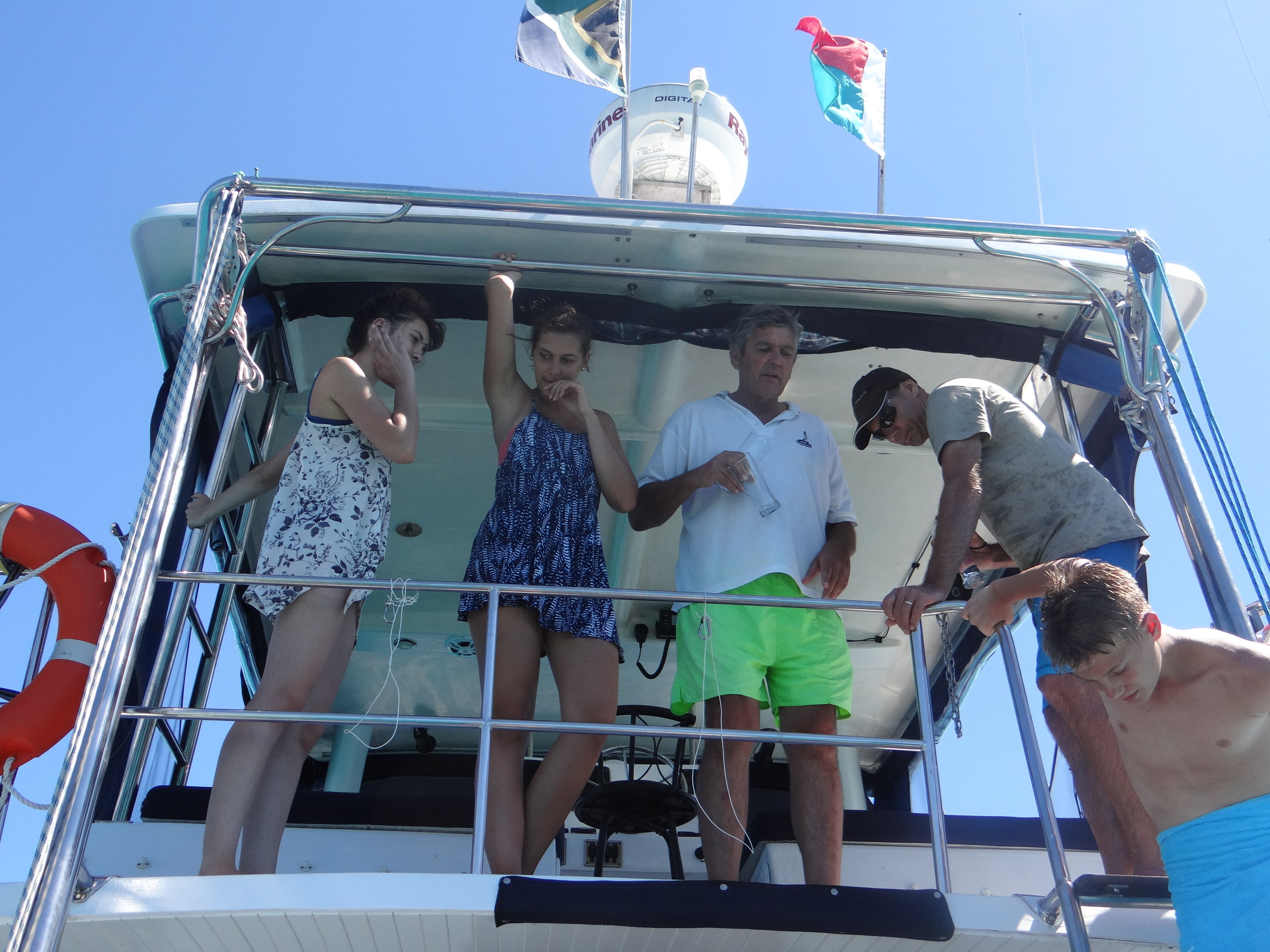 Fun on the Maki Cat charter boat