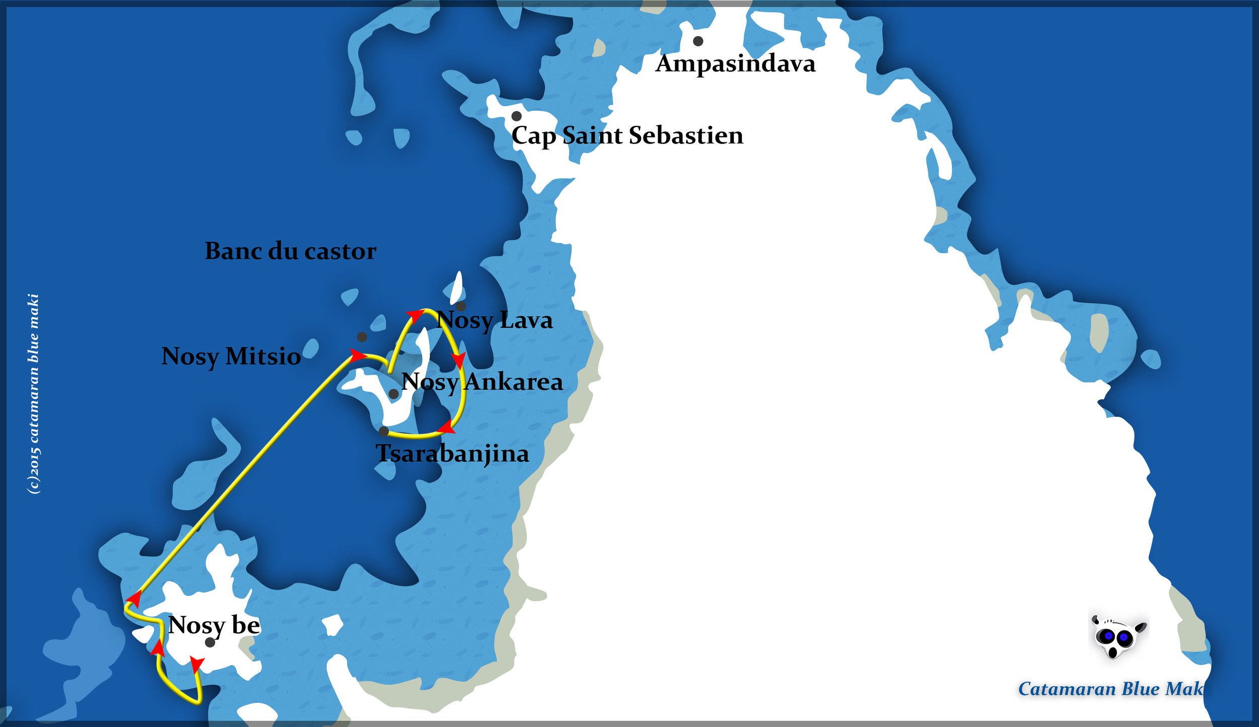 Charter boat routes of the Maki Cat