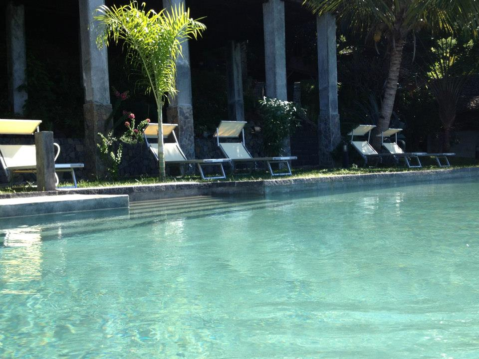 Stunning swimming pool at L'Heure Bleue Hotel