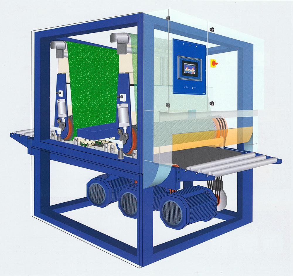 Illustration af opbygningen af Costas slibe- og afgratningsmaskiner