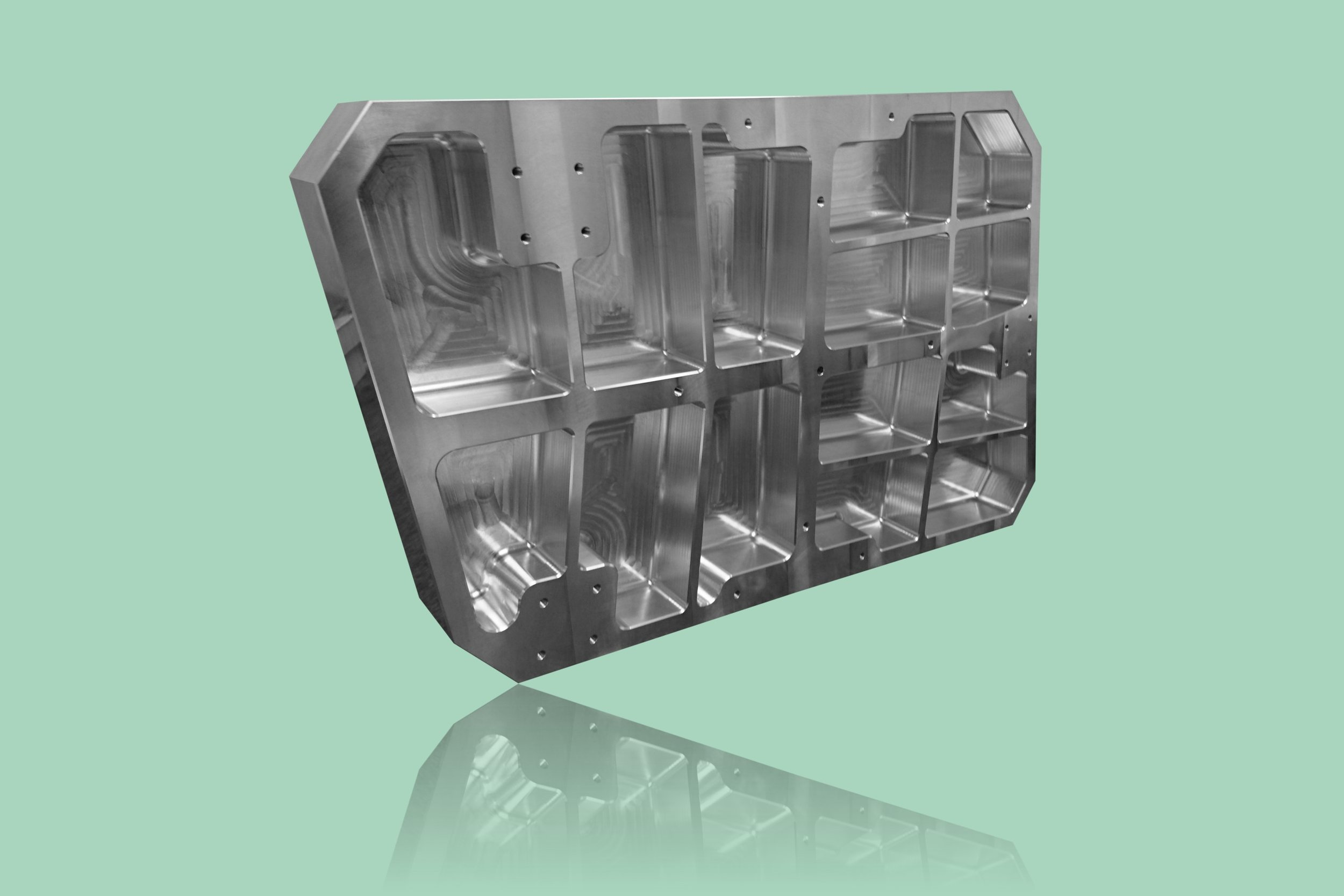Enkeltstyk produktion fræst i aluminium Branche: Elektronik