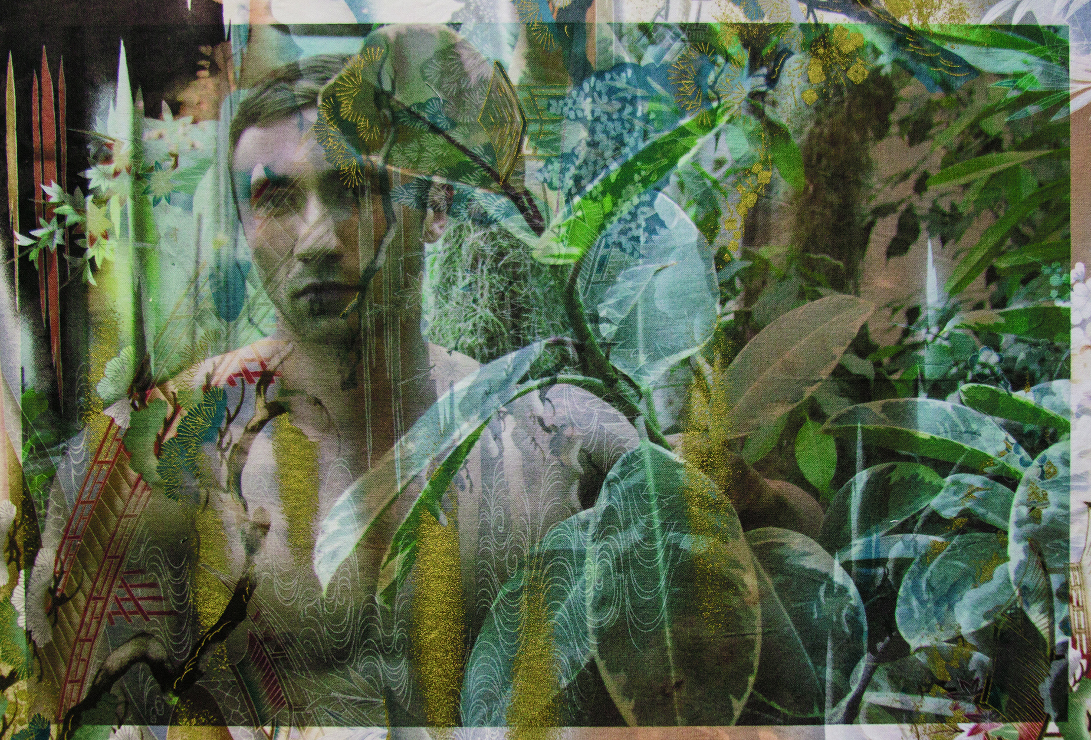 Michel Kowalski in Monet's greenhouse Giverny (on black bonsai fabric) 2013