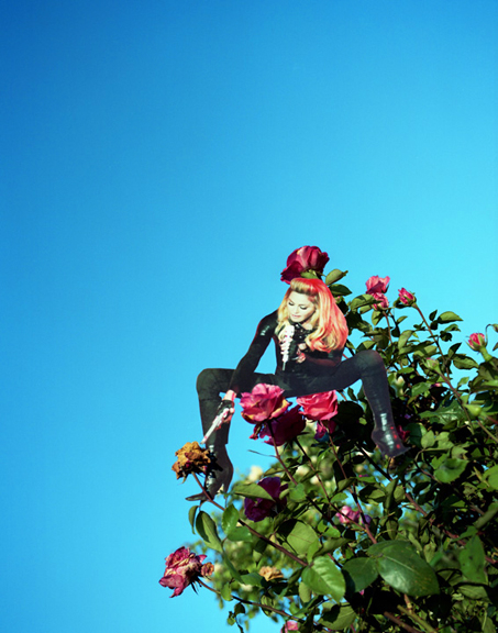 MADONNA IN PARIS REPHOTOGRAPHED IN GIVERNY 2012
