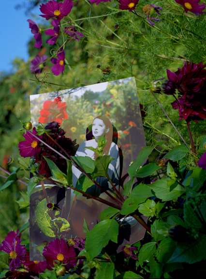 MARINA ABRAMOVIC IN MANCHESTER IN GIVERNY REPHOTOGRAPHED IN GIVERNY 2012