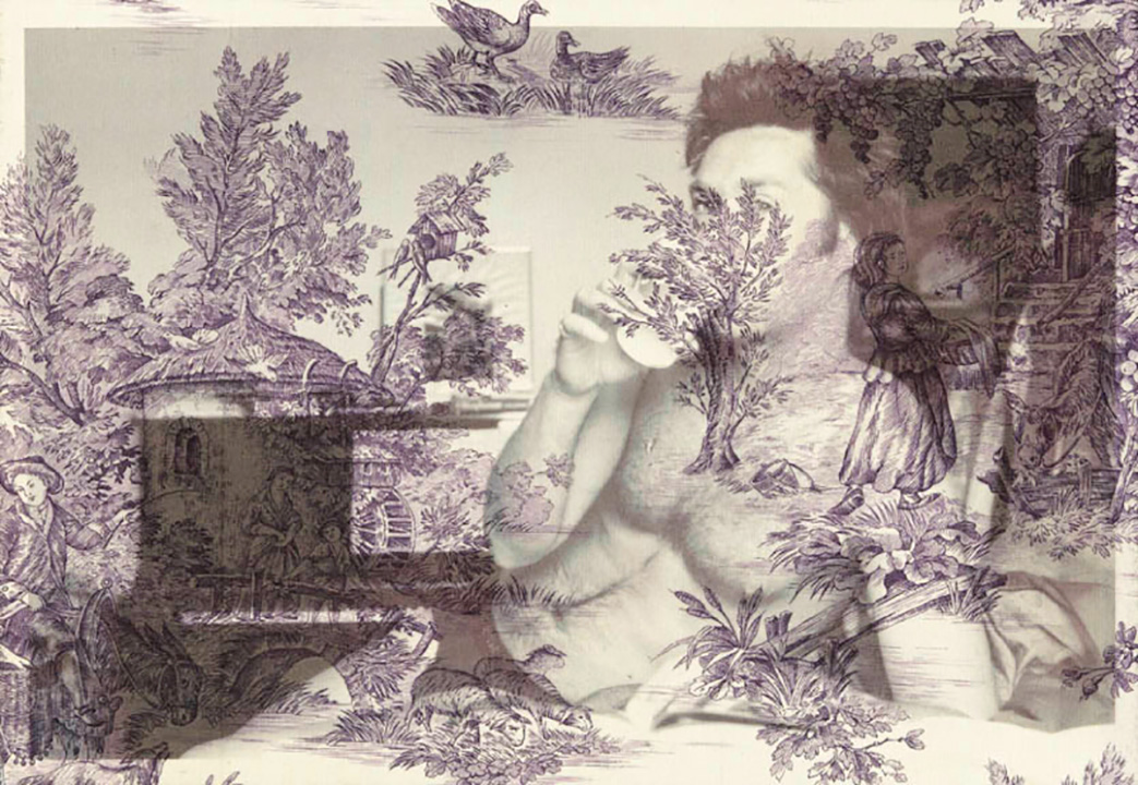Rufus Wainwright New York lounge ( on purple pastoral toile) 2012