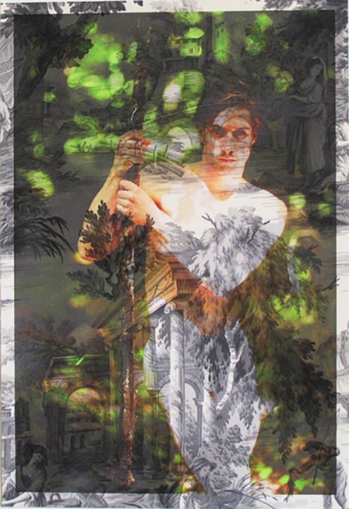 Leonard Jakovina standing Tiergarten Berlin (on grey pastoral toile) 2012