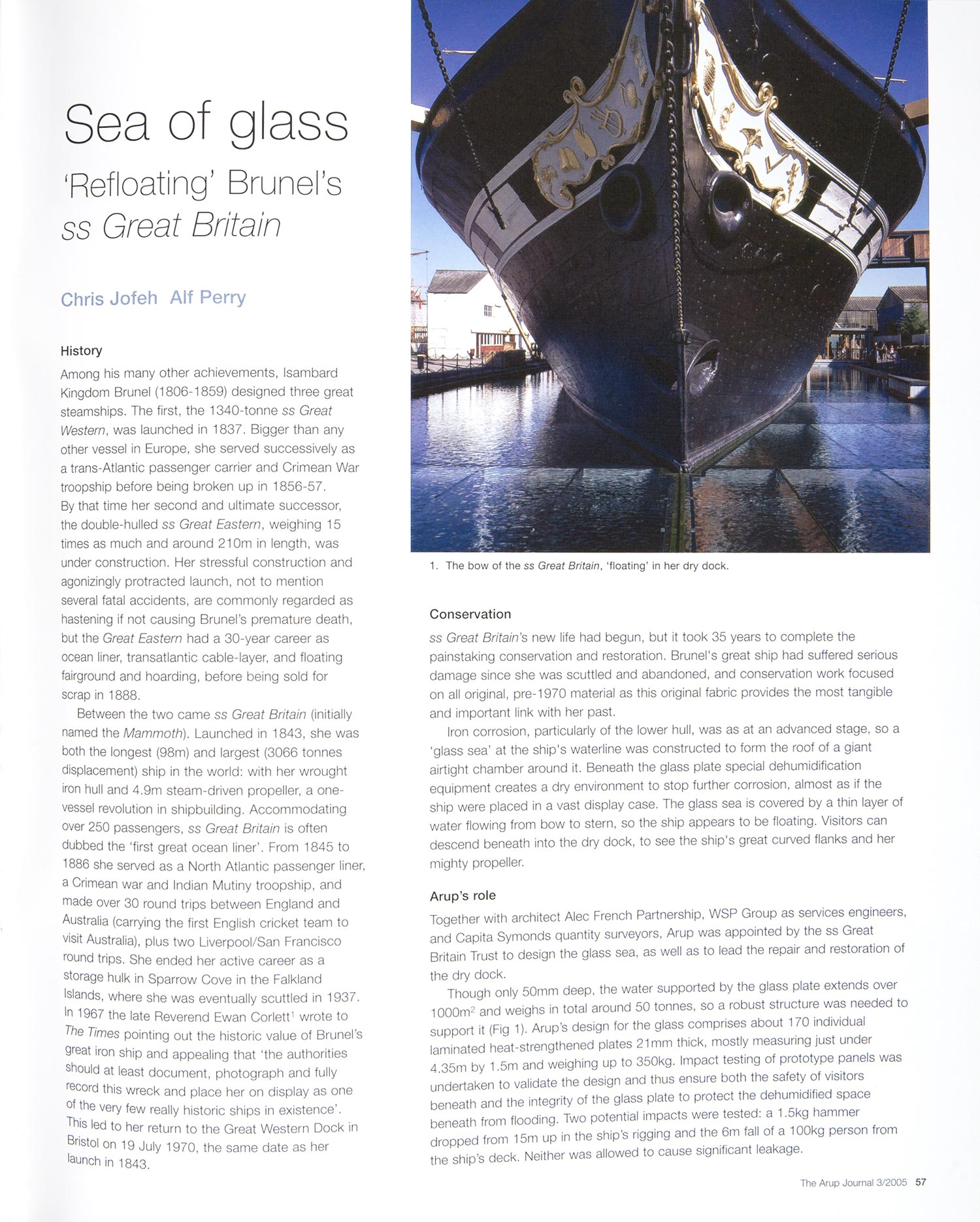 Arup Journal - ss Great Britain Museum