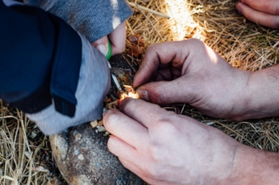 Fire lighting - No matches or lighters here! Groups will be shown how to gather fuel and lighting material from their surroundings and taught how to light a camp fire safely using traditional methods and natural tinder. Then all that's left is to get the kettle on!