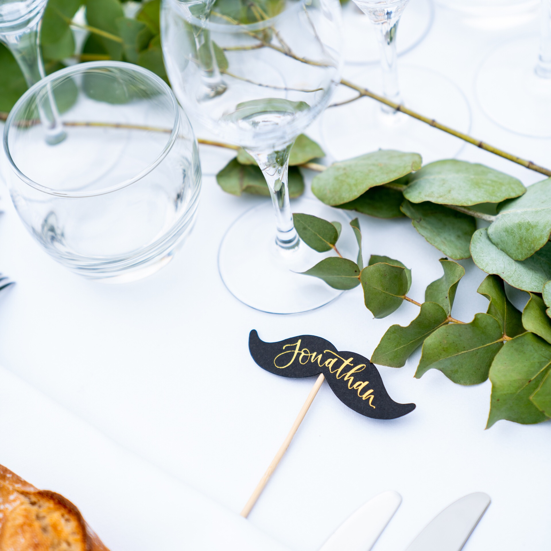 These fun moustache props were personalised for the gents to find their seats at a beautiful destination wedding in Chateau St. Martory, captured by David Wheeler Photography. There were also…