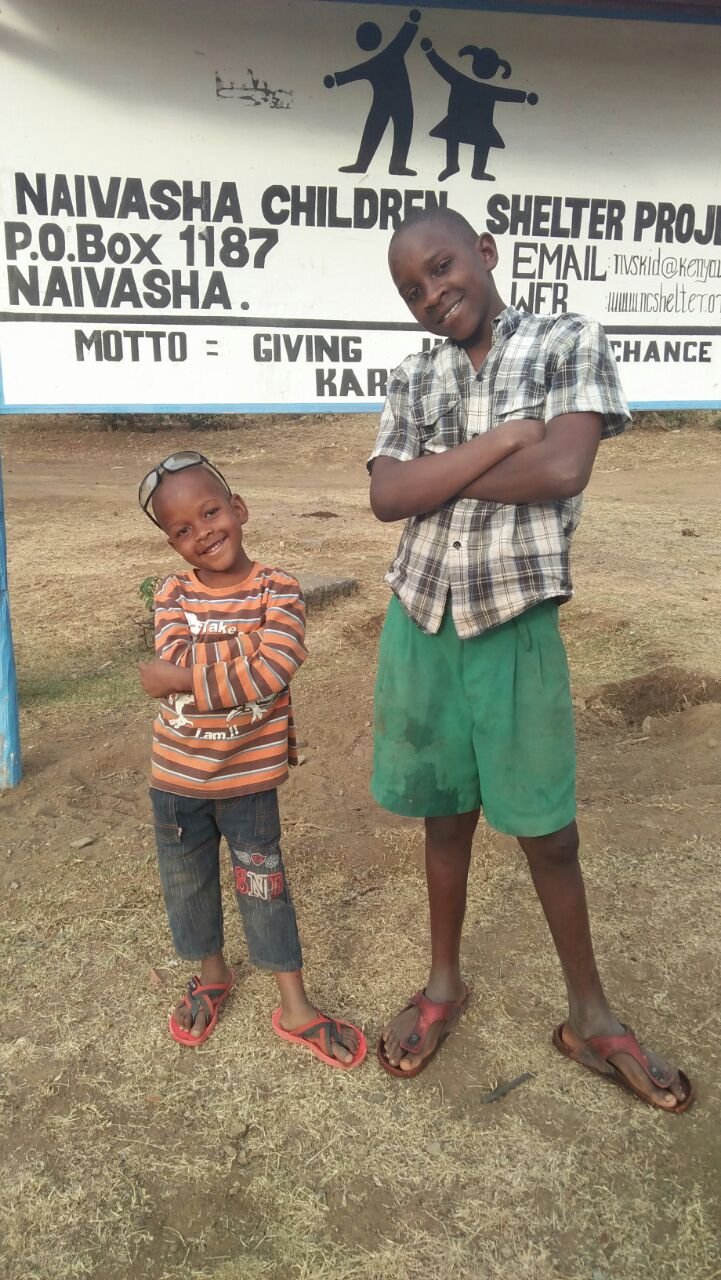 Bahati and Martin, together at the Shelter.