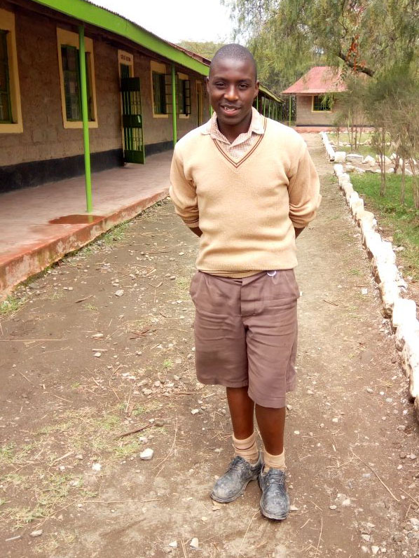 Charles was recently elected by his classmates as school's president.