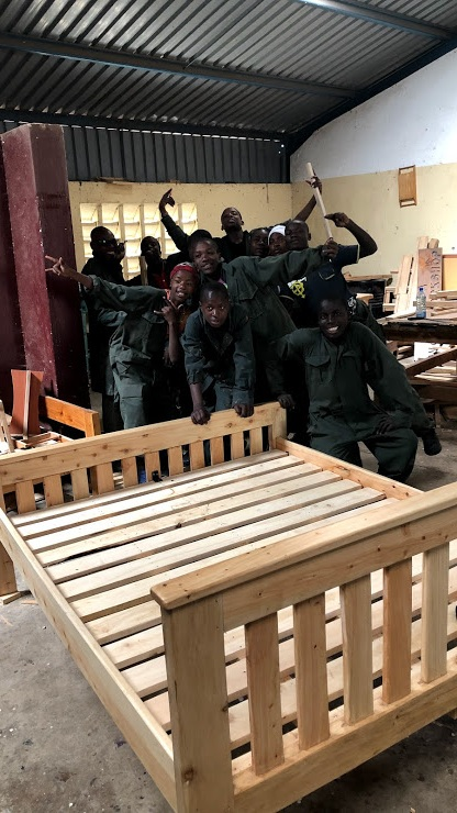 - Our carpentry students also take a short break in April to visit family. They have been working hard and improving their skills week by week, and we are impressed with how much they've learned already. This month, they even completed a bed for one of our Shelter directors.
