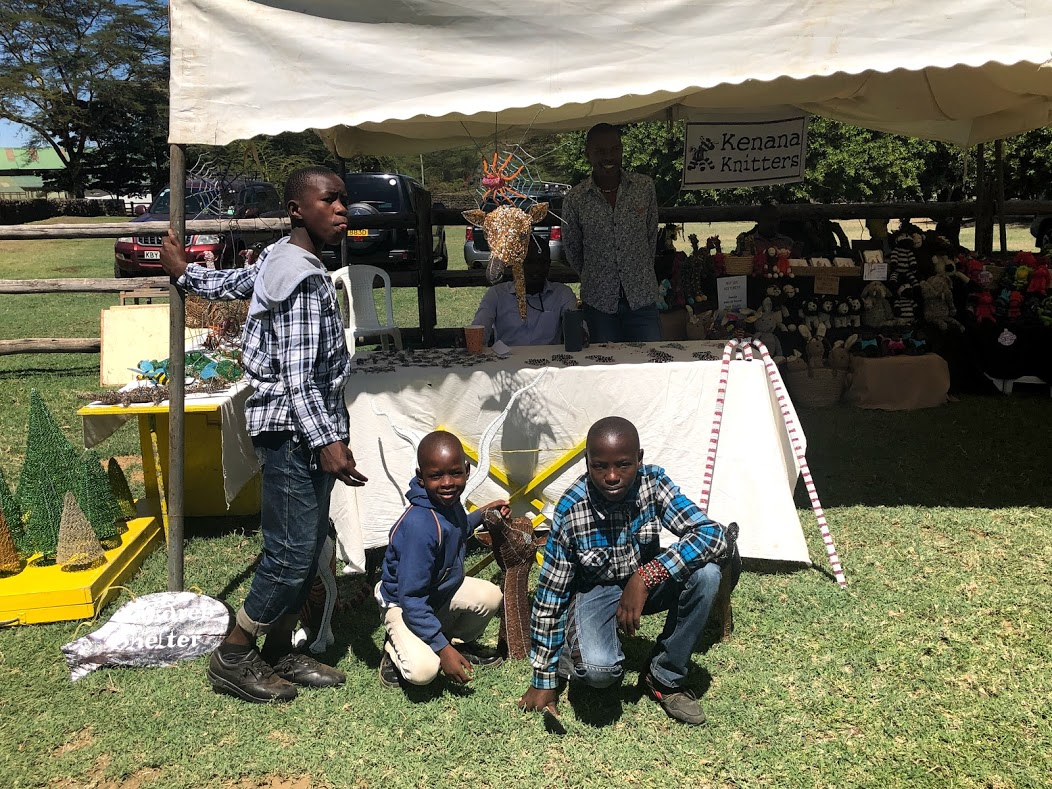 Did you know?  Every other month, we have a booth at the Naivasha Farmers' Market. A few boys and staff go and sell beadwork and produce among vendors from all over the county. A great time was had by all at the April market!