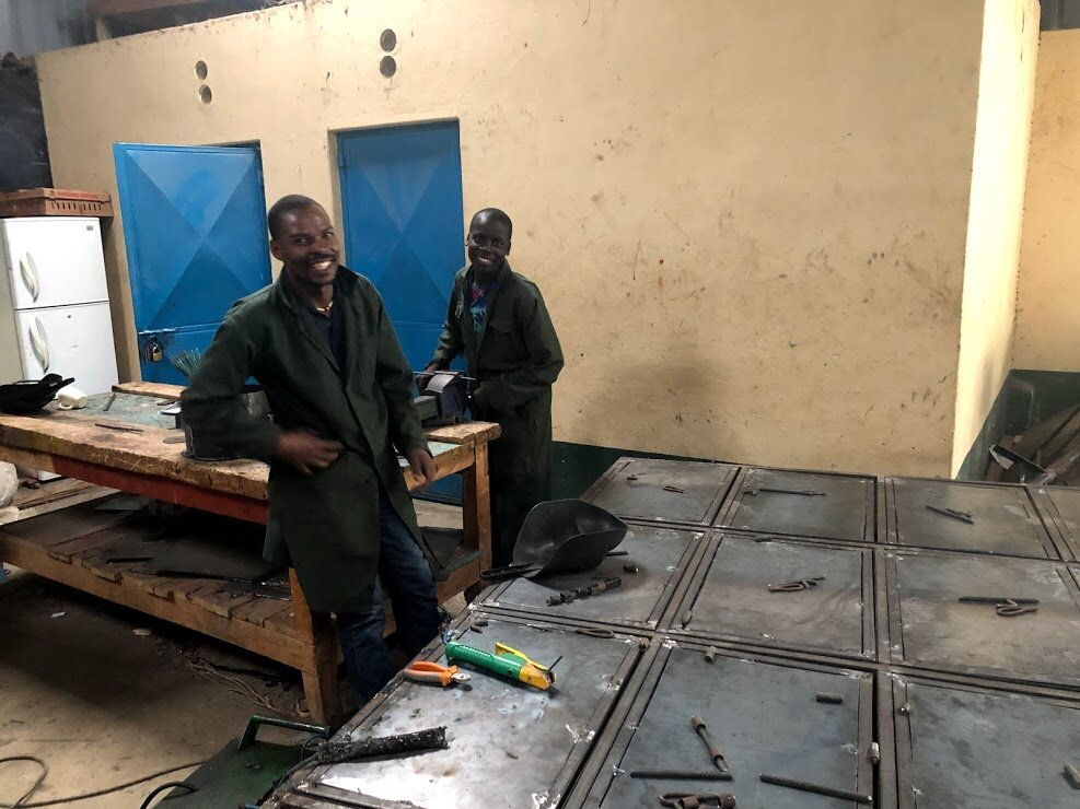 In addition to our carpentry program, this year, our young men are also being trained in welding. They are currently working on new lockers for their dorm rooms. We are so grateful to be able to provide them with another useful skill.
