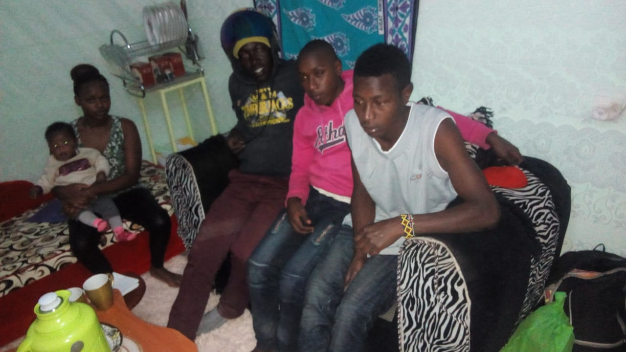 Kelvin with his family after a miraculous reintegration earlier this month