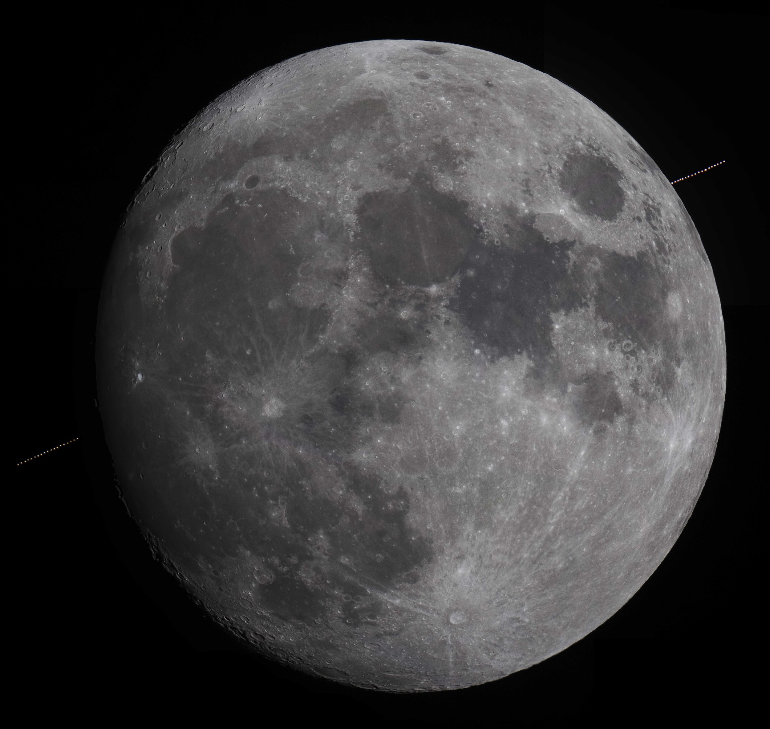 Aldebaran occultation composite
