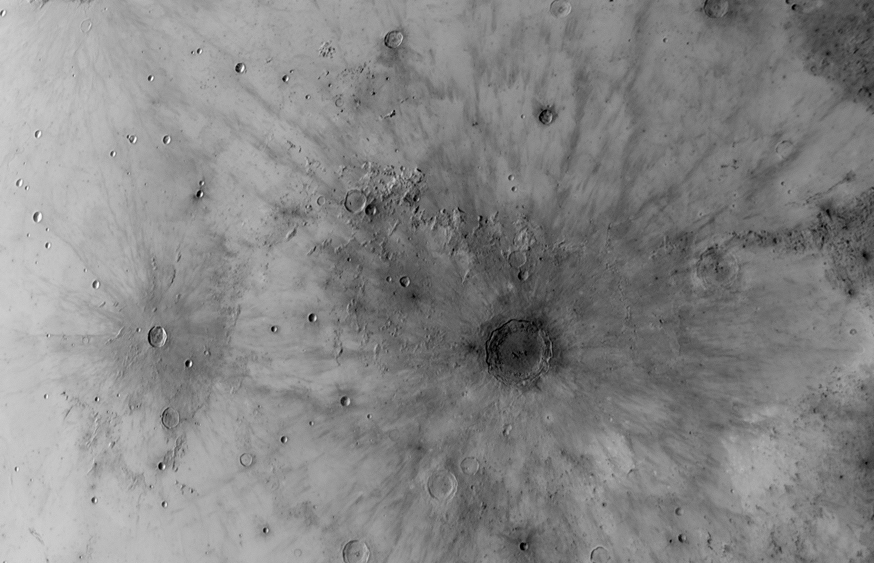 Kepler & Copernicus inverted rays