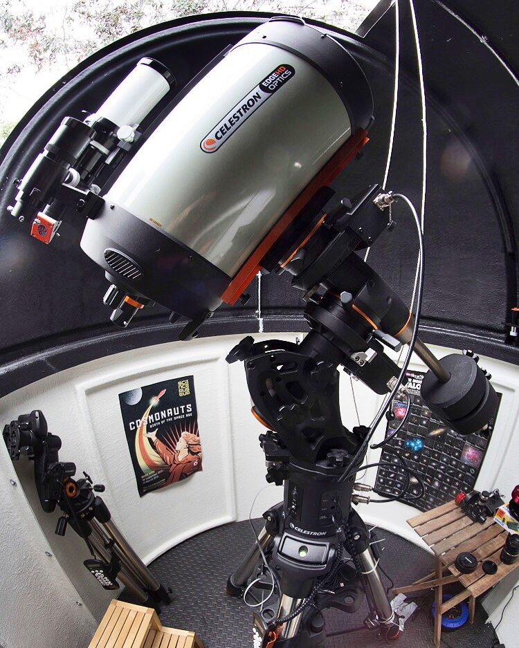 Celestron Edge HD Schmidt-Cassegrain Telescope in my home observatory