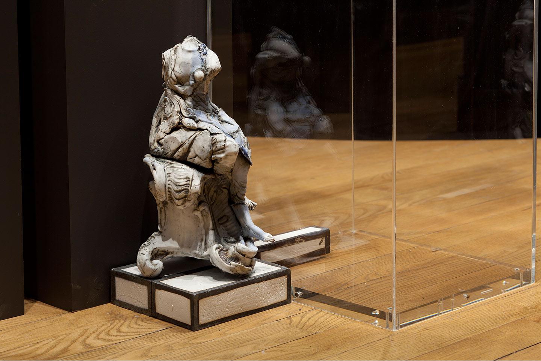 Big Girl,  2012. Glazed Meissen porcelain. 14.12 x 8.25 x 7.5 inches.