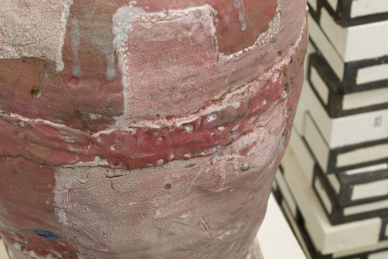 detail, So and So and So and So and On and On , 2010. glazed ceramic, glazed kiln bricks. 51.5 x 43.5 x 33 in.