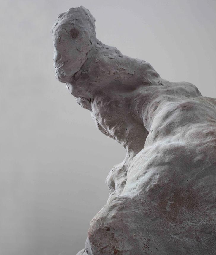 detail, Unheard Of , 2009-2010. glazed ceramic, steel. 19 x 16.25 x 74 in.