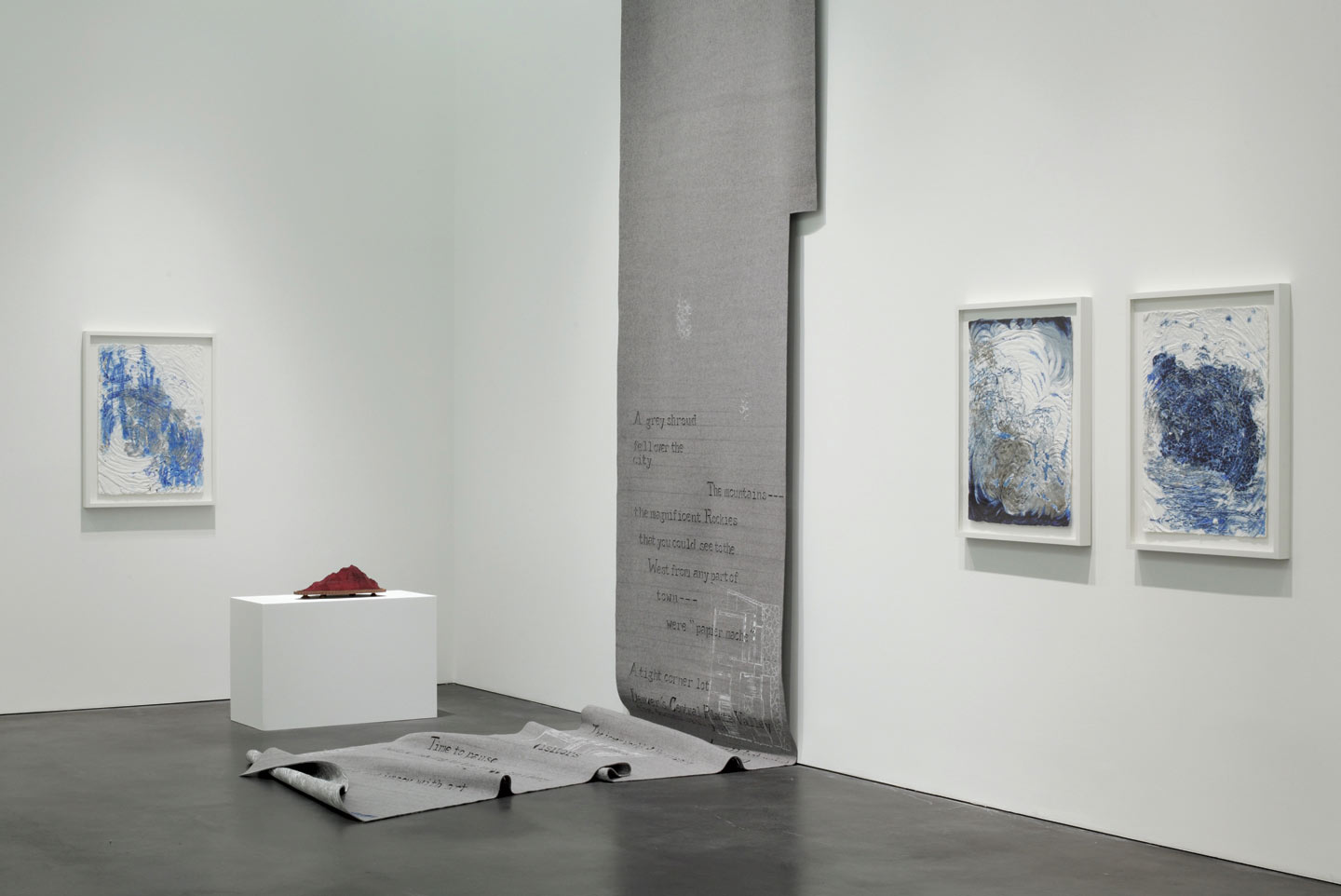 Installation view,  Here and There , solo exhibition at the Museum of Contemporary Art Denver, 2009.