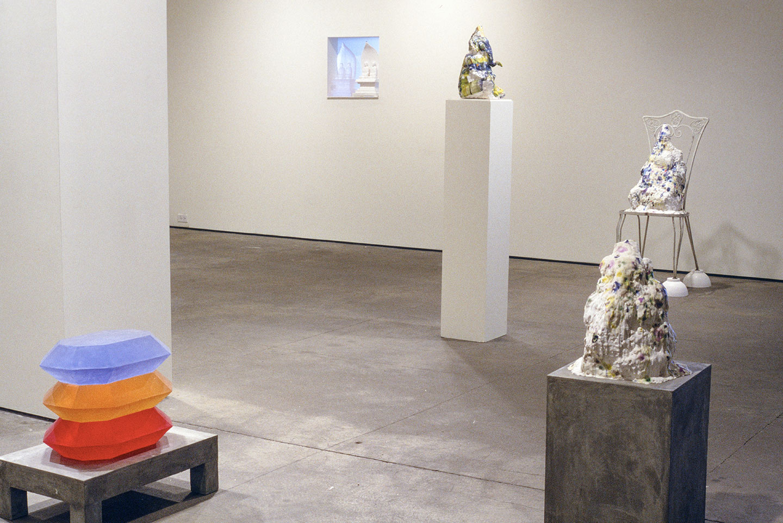 Installation view,    Mirror Mirror  ,  solo exhibition at Elizabeth Harris Gallery, NY, 1999.