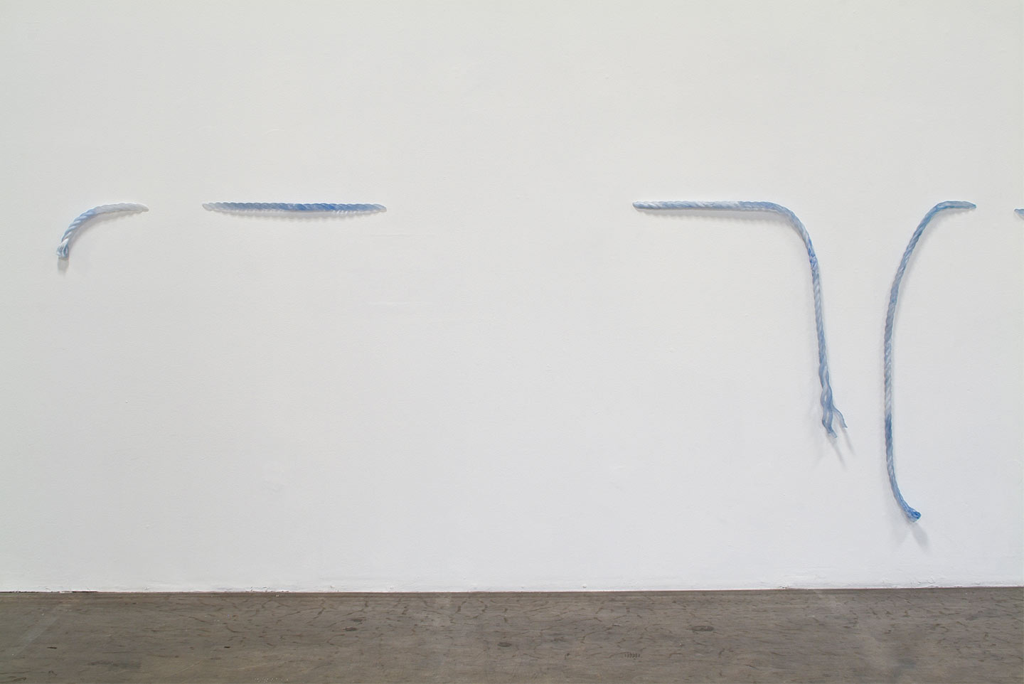 Installation view,  Out of the Blue  ,  solo exhibition at Shoshana Wayne Gallery, CA, 2004