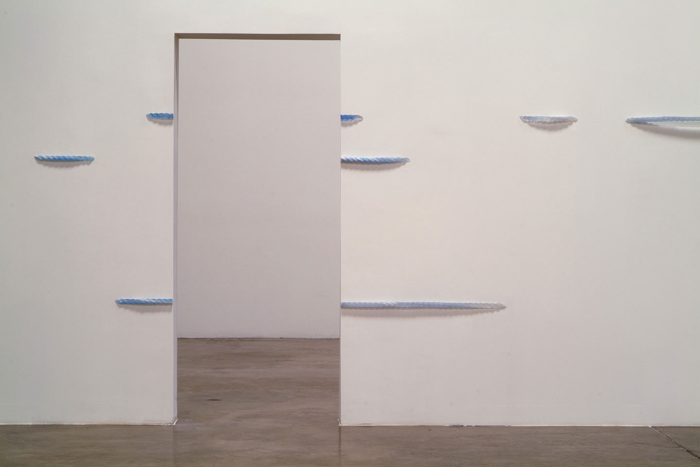 Installation view,  Out of the Blue ,solo exhibition at Shoshana Wayne Gallery, CA, 2004.