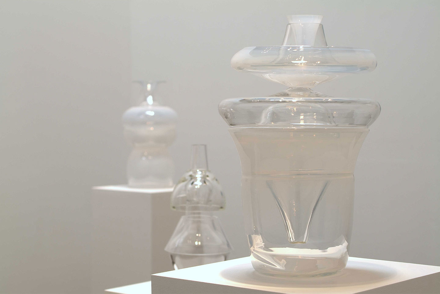 """Installation view, """"Out of the Blue,"""" solo exhibition at Shoshana Wayne Gallery, CA, 2004."""