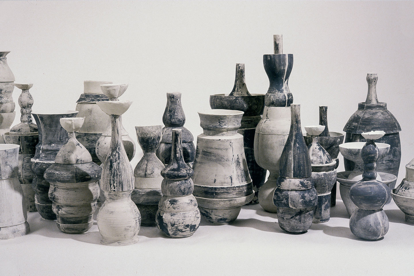 detail,  Skyline  , 2002. c  ast porcelain, ceramic pigments. a  pprox. 13.5 feet x 13 inches.