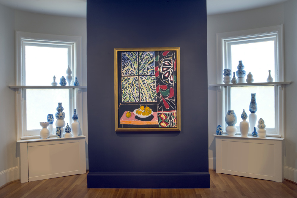 Henri Matisse,  Interior with   Egyptian Curtain , 1948. Oil on canvas. 45.75 x 35.125 inches. Arlene Shechet, Once Removed , 1998. Abaca paper on plaster base. Dimensions variable.