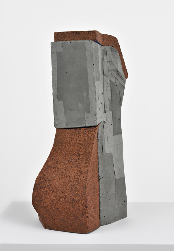 Knowing Sylvette , 2018. glazed ceramic. concrete. 33 x 21 x 22 in  .
