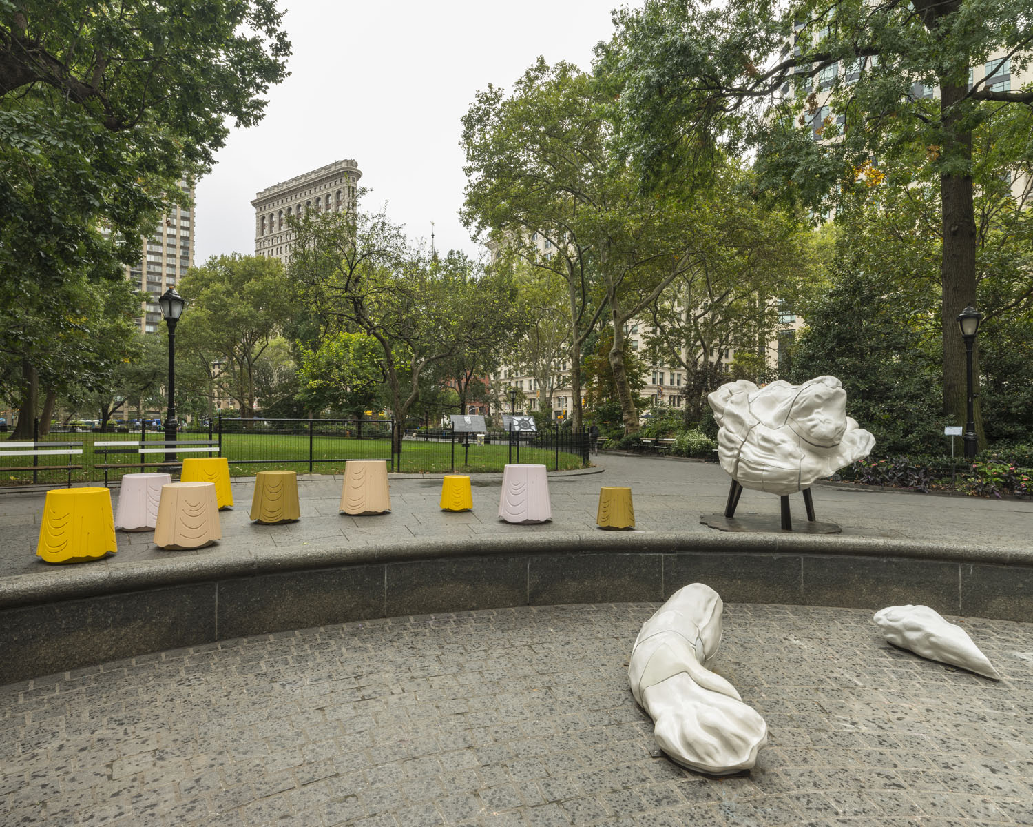 Full Steam Ahead , public installation at Madison Square Park, New York, NY, 2018-19. Photograph by Kris Graves. Courtesy the artist and Pace Gallery.