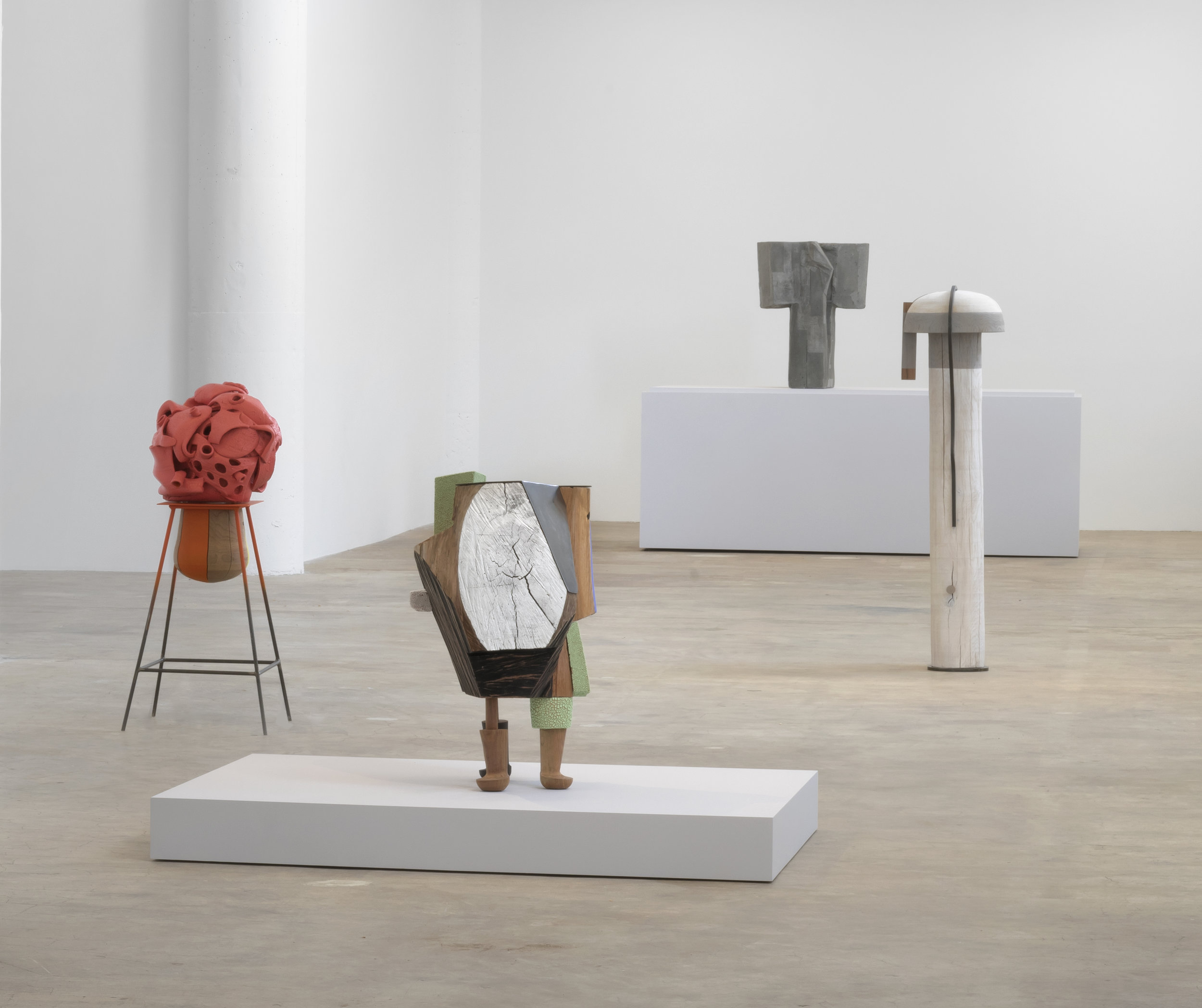 Installation view,  Arlene Shechet: Sculpture , Vielmetter Los Angeles, CA, Apr 6 - June 8, 2019.