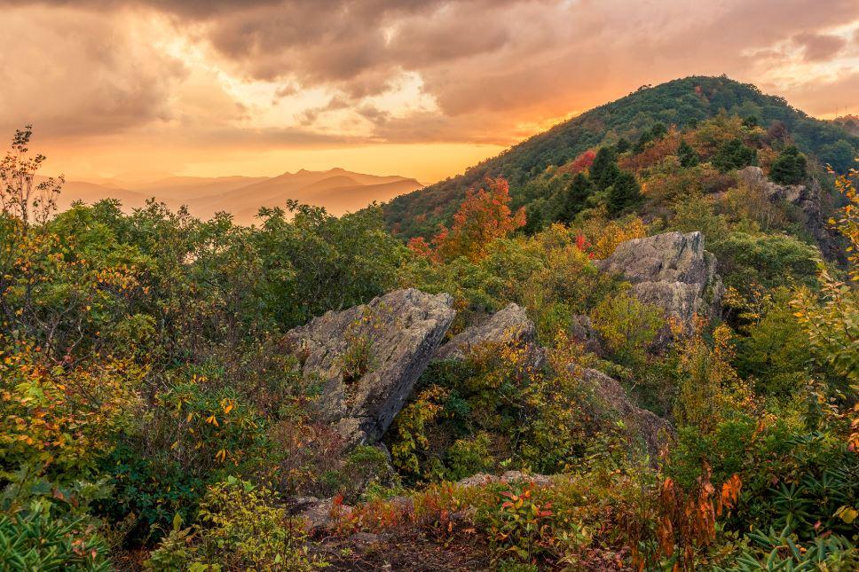 Blue Ridge Mountain Physiographic Province, North Carolina. Photo credit: Dennis Oakley.
