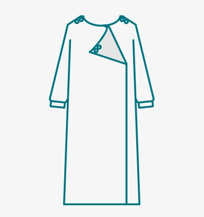 Adaptive Dress  (Back View) Full Overlap