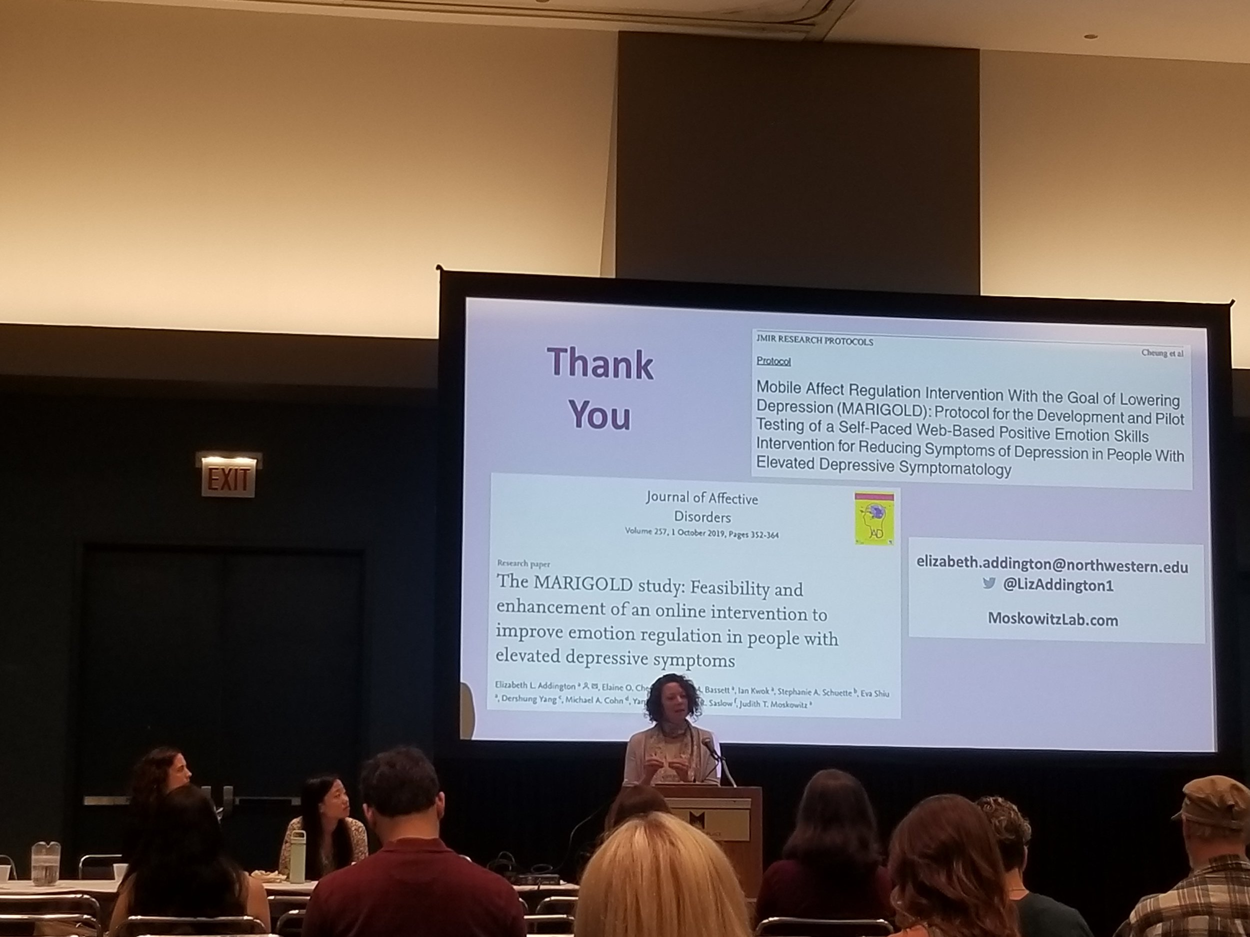 Judy speaking at APA 2019