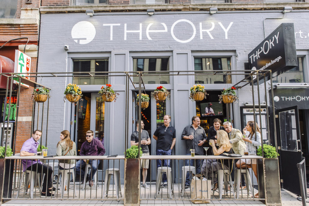 THEORY -  9 W Hubbard St, Chicago, IL 60654(312) 644-0004In River North? Need to get extra hyped for the goddamn game? Grab some grub and a Boneshaker ON DRAFT!