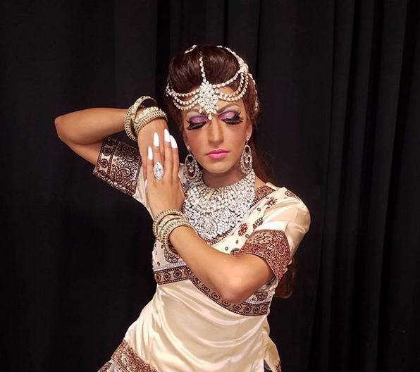 Sundari Indian Goddess - is a Caribbean drag entertainer, native to the Republic of Guyana and currently residing in Queens, New York. Sundari has performed throughout the Tri-State area and uses performing arts to promote the Guyanese and Caribbean culture, as well as influence LGBTQ acceptance and equality throughout the New York area. She hopes her presence in the wider Caribbean Community will encourage LGBT individuals of Caribbean descent to get involved in their local community issues and help make a difference in their world.