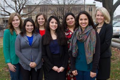 VJP Staff, from left: Kelsey Raves, Grecia Mercado, Erica Harrigan, Karen Salazar, Noemí Gallegos, Meghan Durán, & Annie Anderson