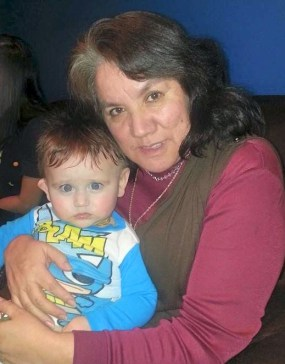 Alicia and one of her grandchildren