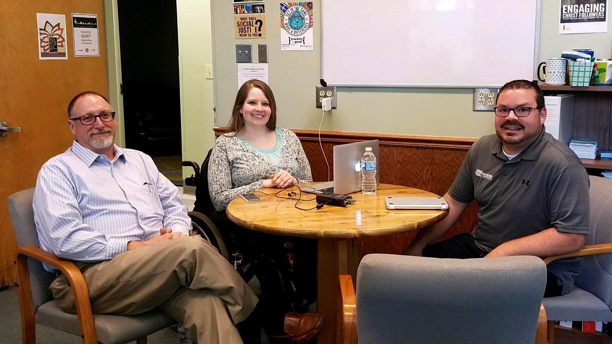 L to R: Mike Bowling, Ashley Caveda, & David Cederquist