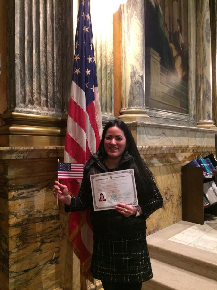 Monina after her Citizenship ceremony
