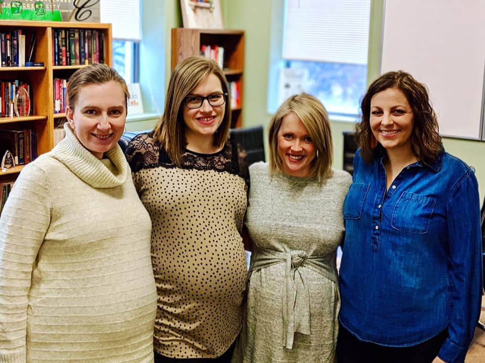 Clinic staff mothers-to-be!