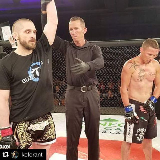 Congrats Keith!! #Repost @kcforant with @get_repost ・・・ And winner by TKO in 1st round.  #2-0 #kotc #kingofthecage #buffalomartialarts #buma #buffalounitedmartialarts