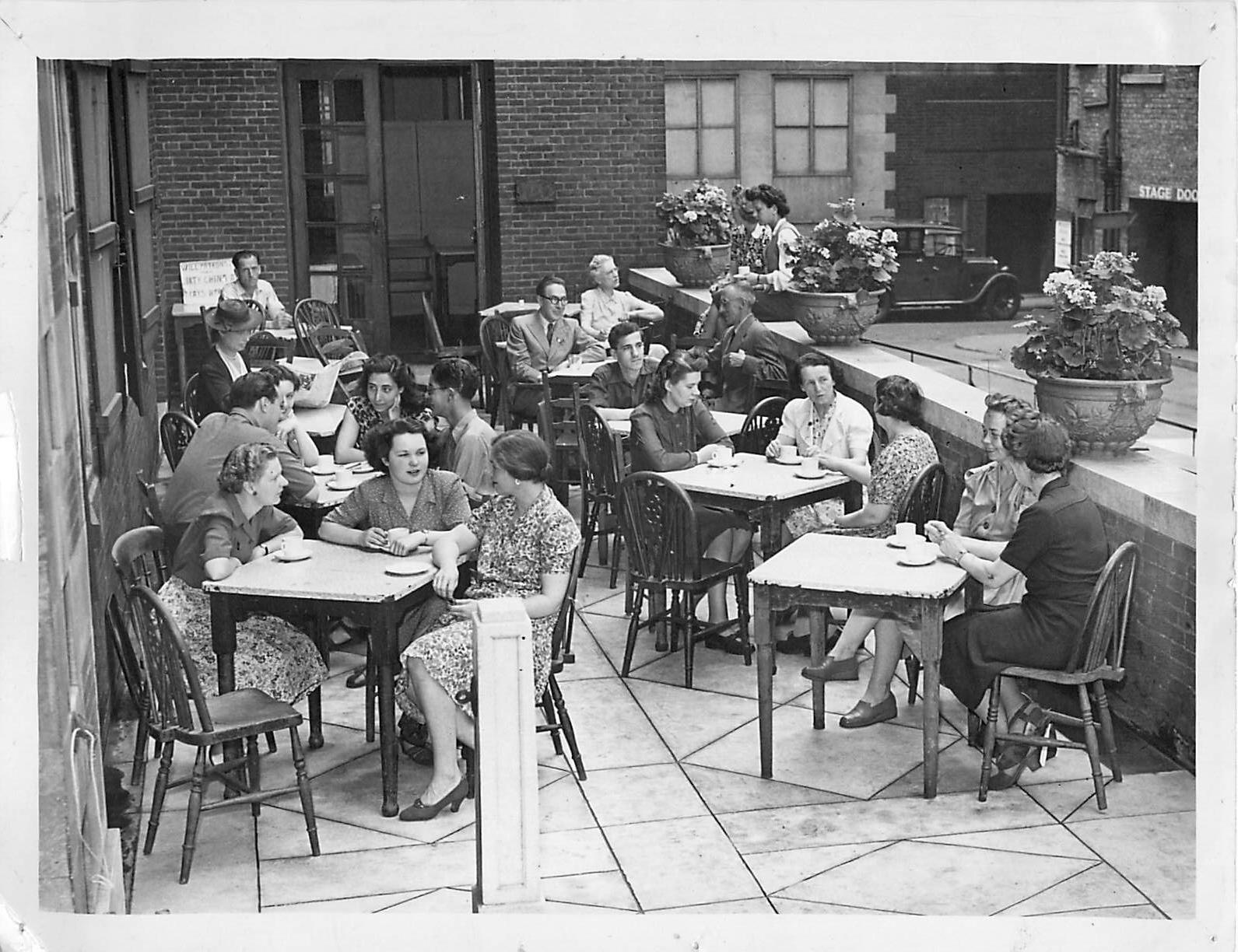 """""""Central Club - Tea on Terrace"""" 1930s"""