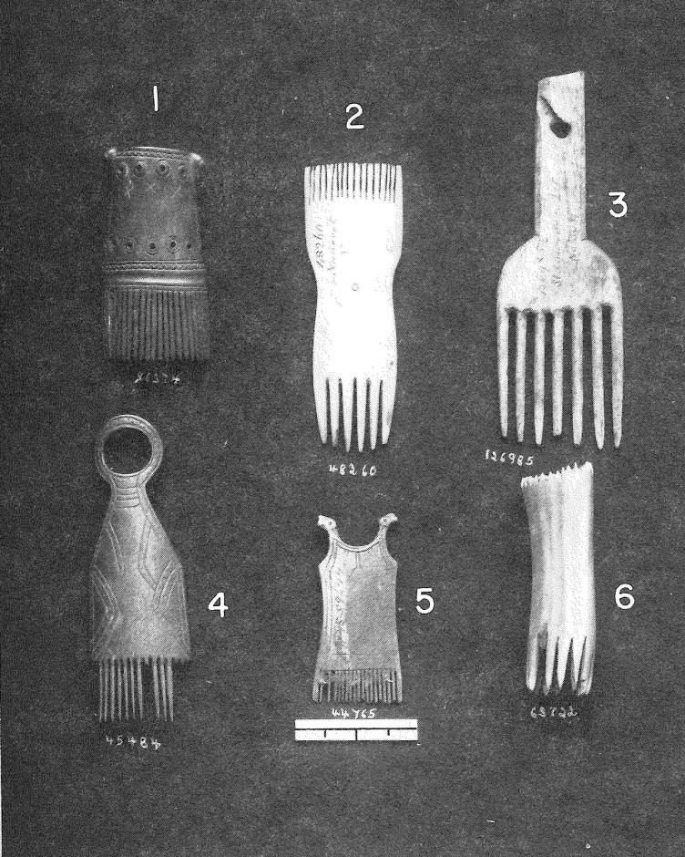 Sample of hair combs collected from the Bering Straits Region prior to 1899.